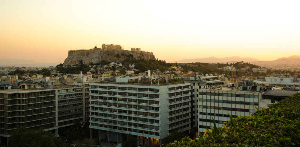 Acropolis from Hotel Grand Bretagne