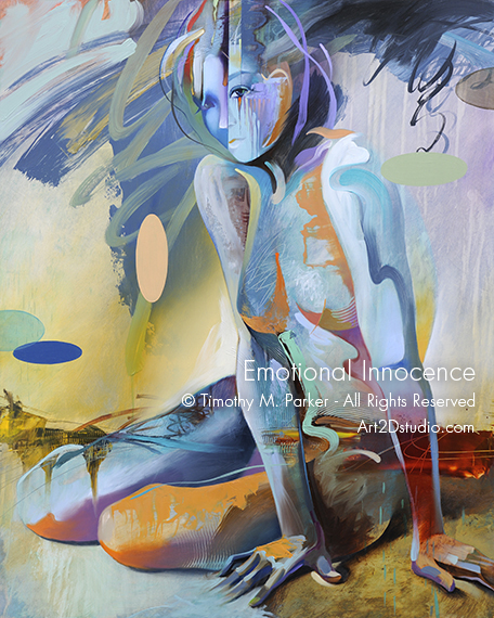 Abstract Figure Painting - Artist Tim Parker