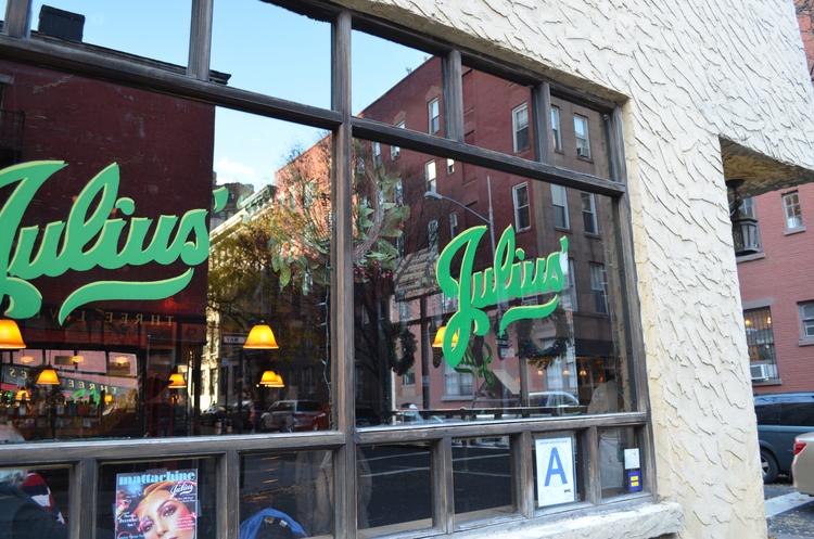 LOGO ON WINDOW -                             JULIUS' NYC