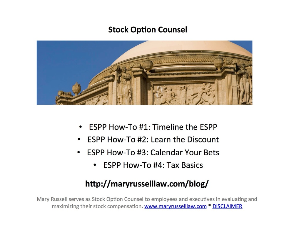 Sell espp or stock options