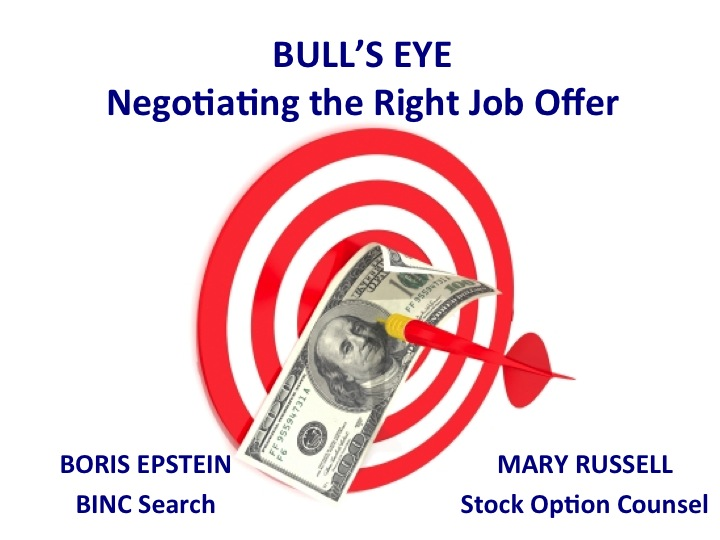 Job offer negotiating stock options