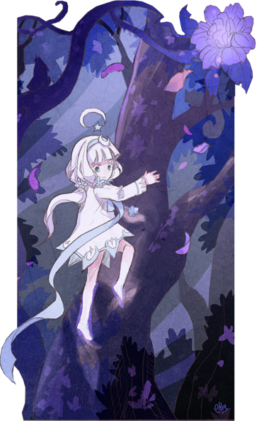 It took some searching, but Artemis eventually managed to find the tallest tree in her forest.  It stretched upward as far as her eyes could see -- surely it reached the sky itself!  And so Artemis set about climbing the tree, carefully hopping from branch to branch as she slowly made her way higher and higher.