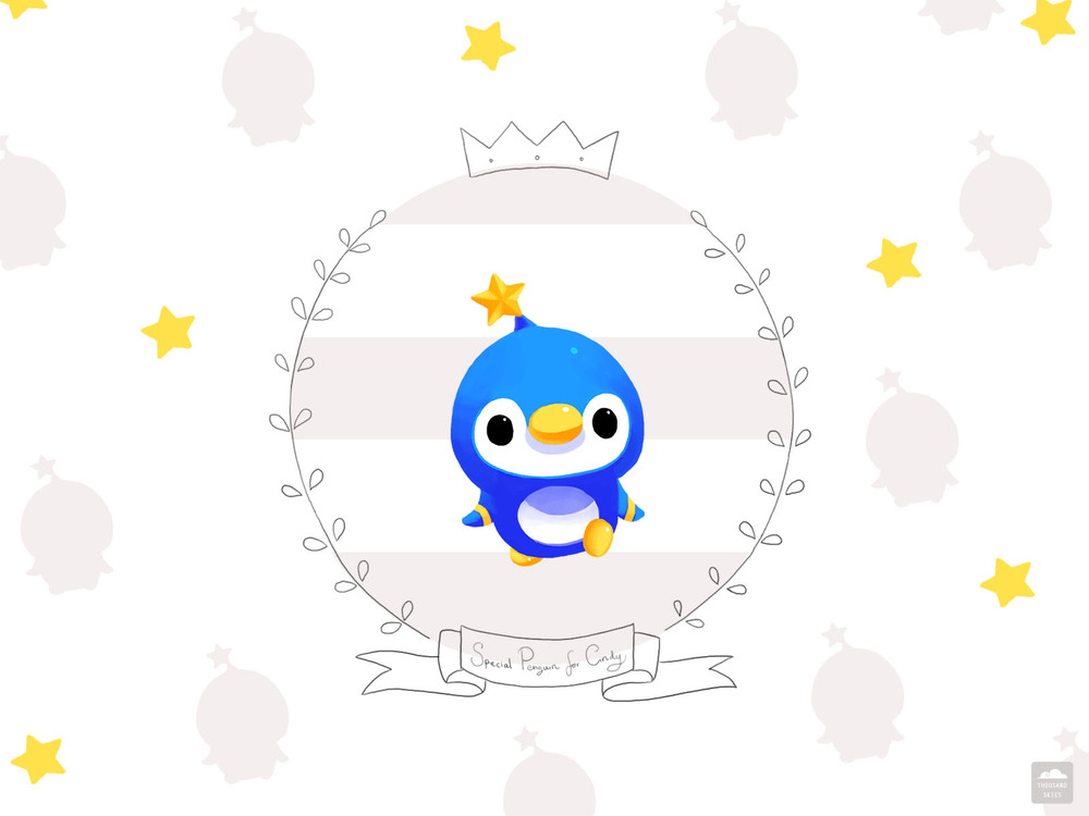 Here's a special request of Penguin wallpaper for my friend :)