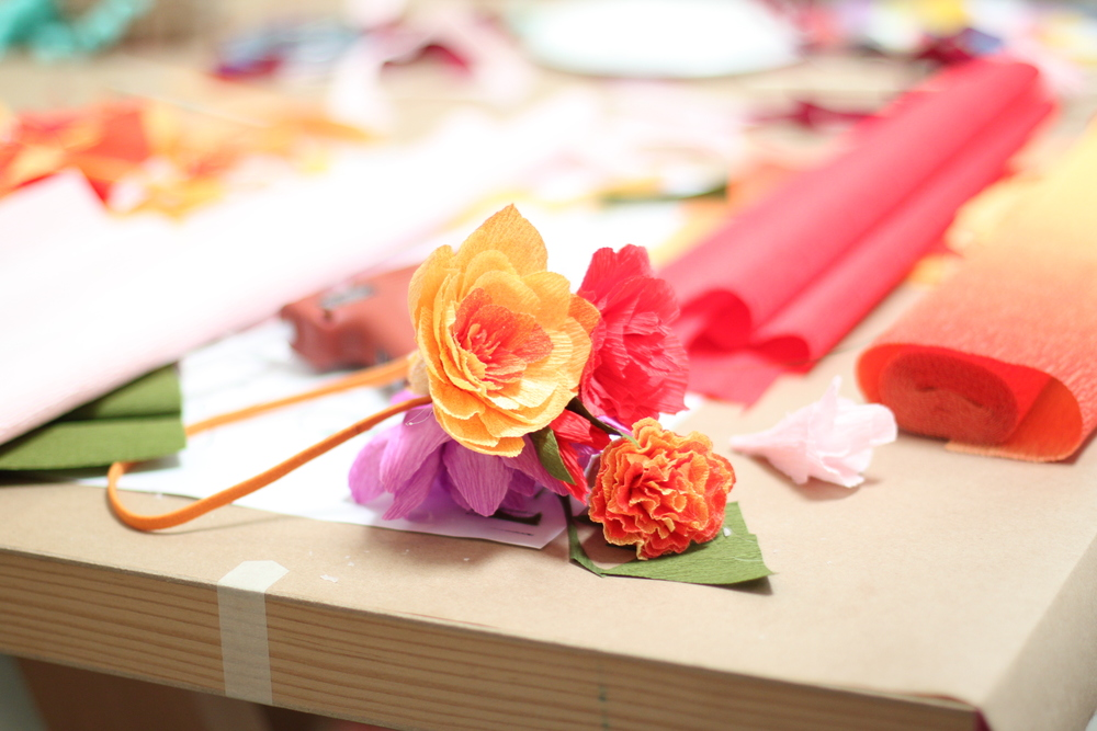 I Took A Class Last Weekend Handcraft Studio School In Emeryville On How To Make Paper Flower Headpieces The Is Taught By Tiffanie Turner Who Also
