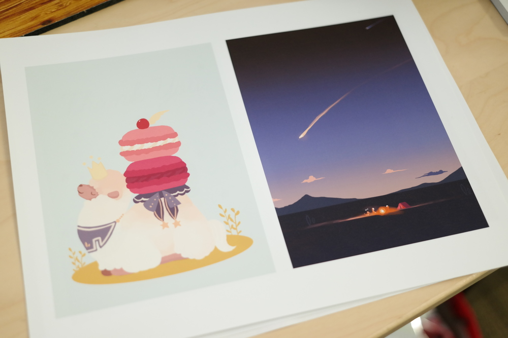 Print your illustration on inkjet printer.