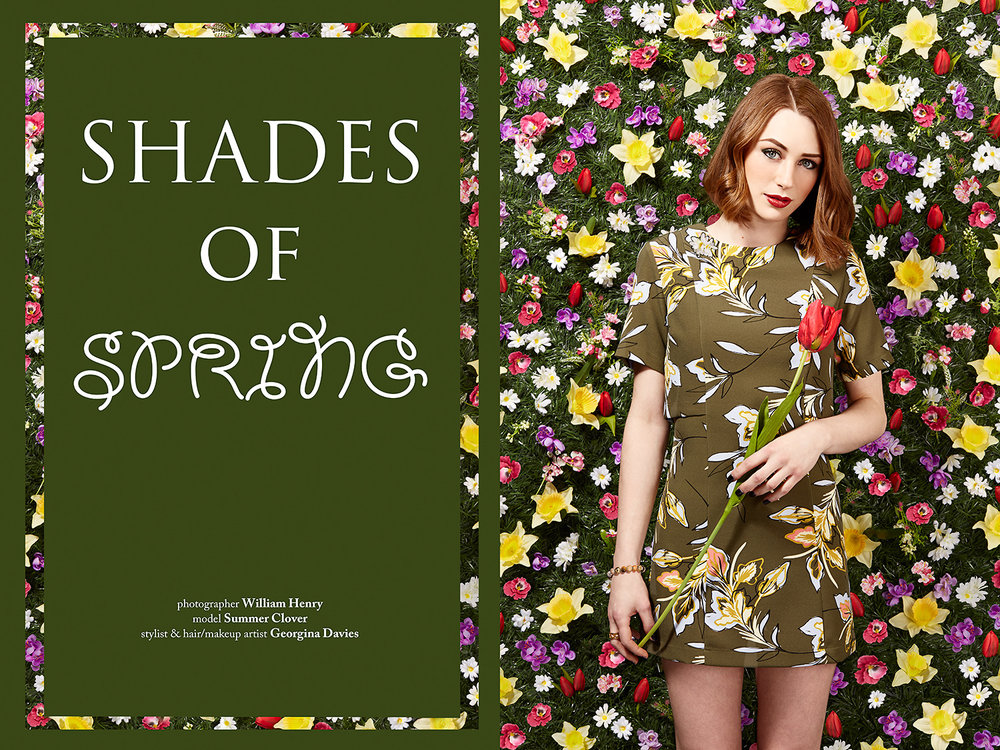 Shades of Spring for Elegant Magazine -