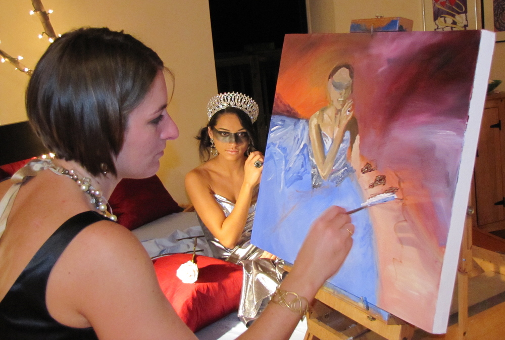 Me Painting Yanira at the event.