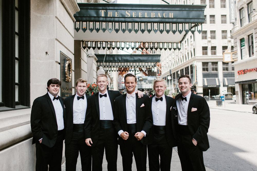 groomsmen at seelbach hilton hotel