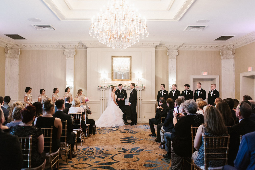 wedding in grand ballroom