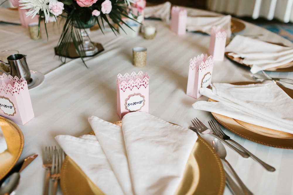 reception plates