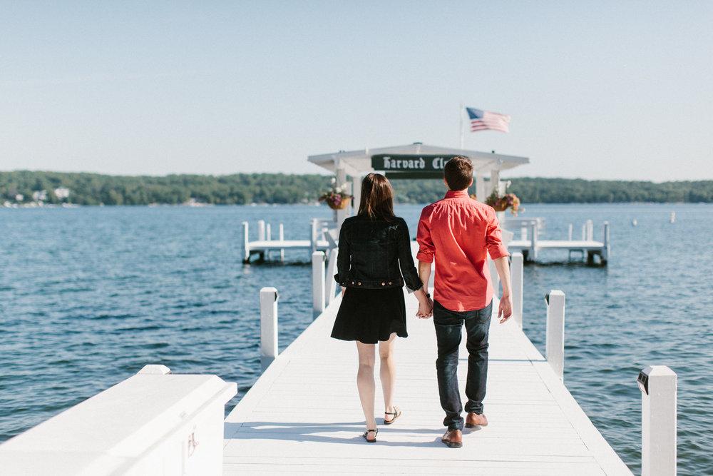 walking on dock wisconsin