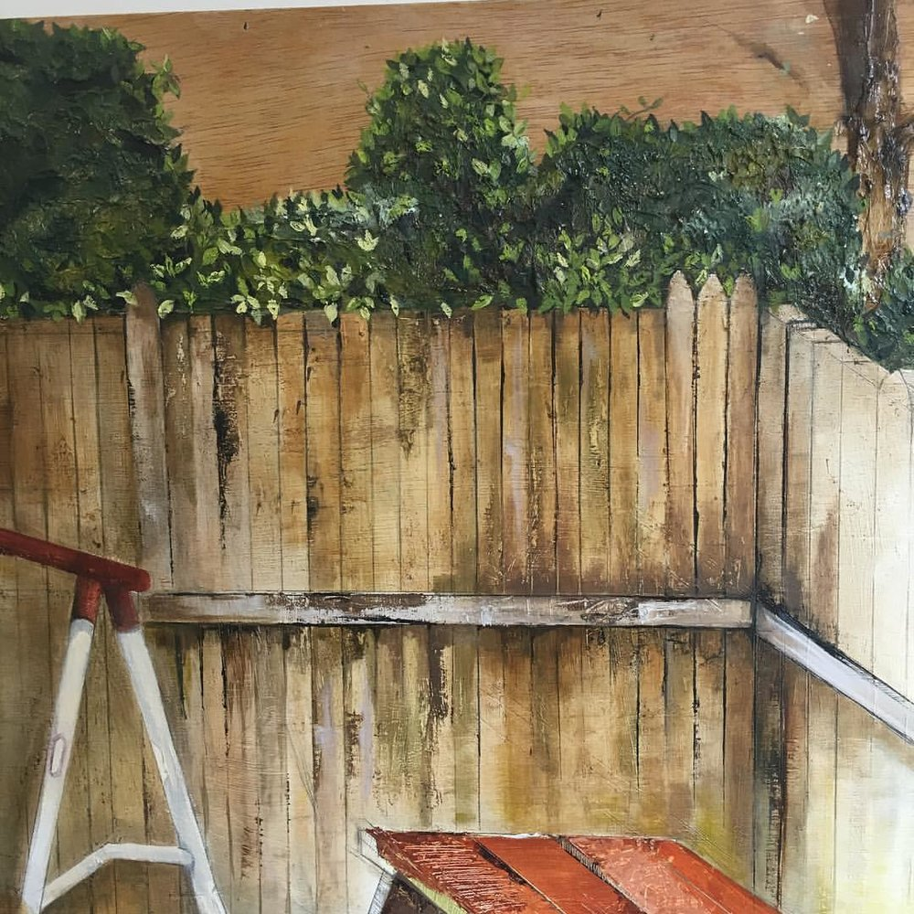 Detail from a work In progress.   .  .  .  .  #111franklin #wip #picnic #trees #texture #fineart #contemporaryart #mixedmedia #woodgrain #art
