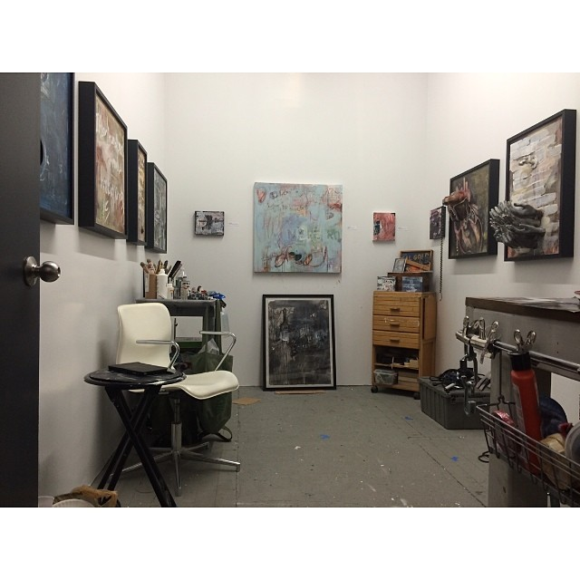 LIC Open Studios. Today and tomorrow. 12-6pm #art #artstudio #artopening #paint #painting #artist #licopen2014 #astoria #drawing #create #saturday #sunday #nycart (at Studio 34)