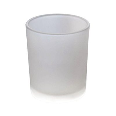 Frosted Glass Holder - $1.50