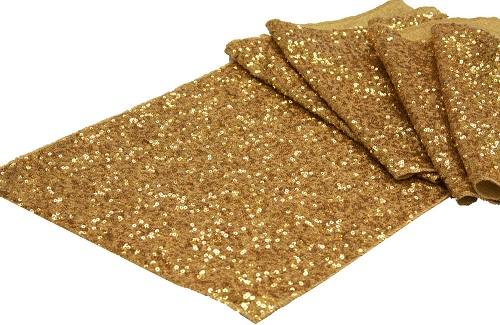 Gold Sequined Runner - $6.00
