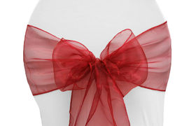 Apple Red Organza - $1.00