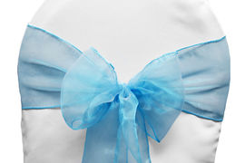 Turquoise Organza - $1.00