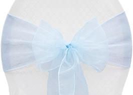 Baby Blue Organza - $1.00
