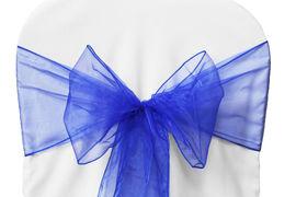 Royal Blue Organza - $1.00