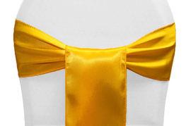 Bright Yellow Satin - $1.50