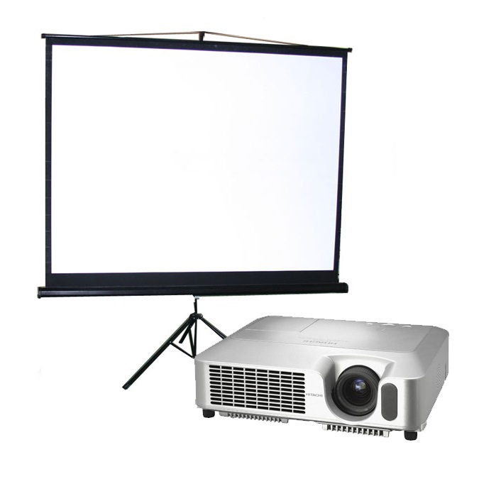 Projector and Screen - $200.00