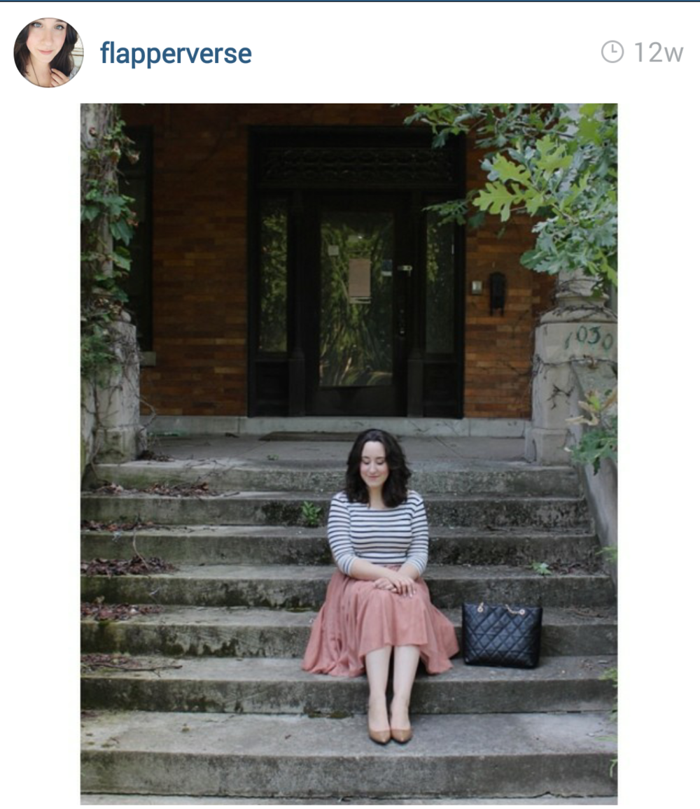 Flapperverse wearing our pink tulle skirt. Love this whole outfit that was put together.