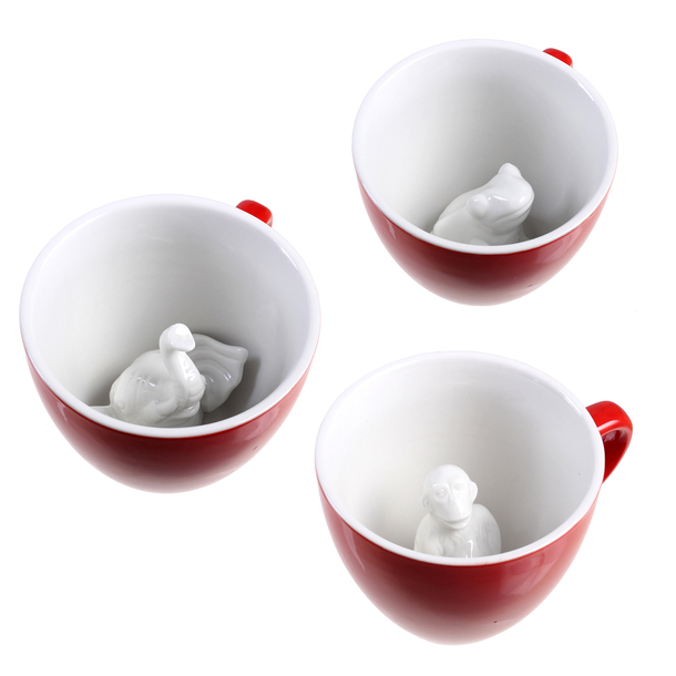 Jungle Creature Cup Set Red