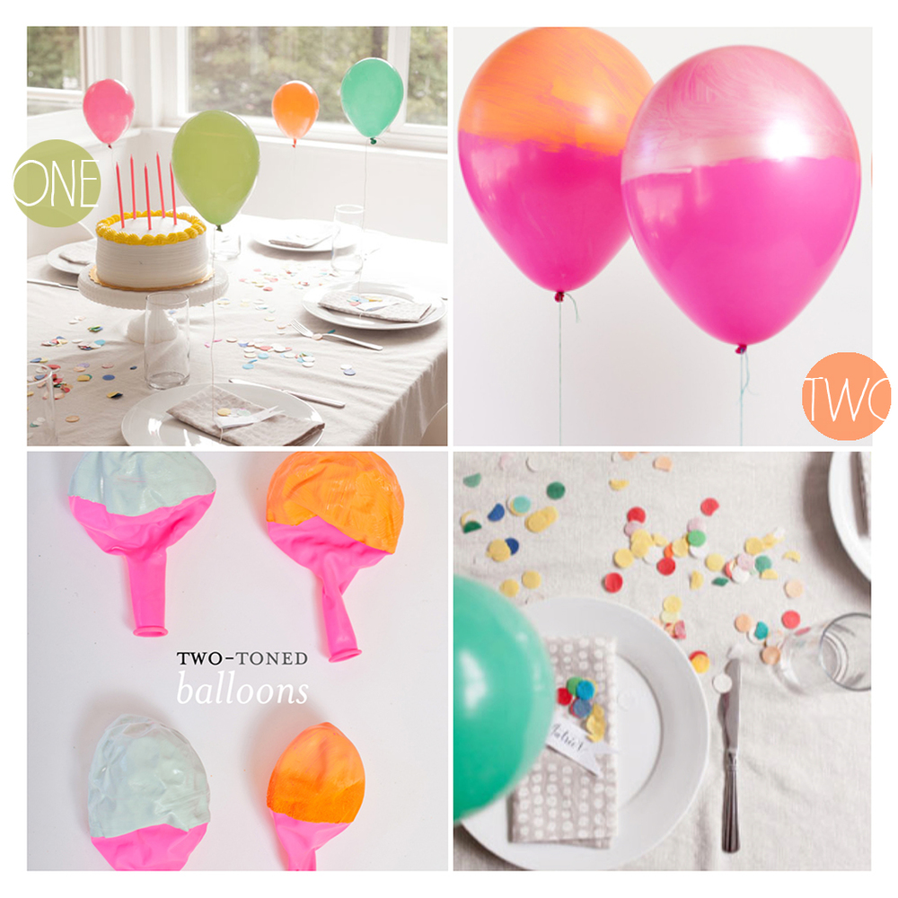 1. Two toned balloons photography by  Jocelyn Noel  2. Mini balloon photography by  Heather Zweig