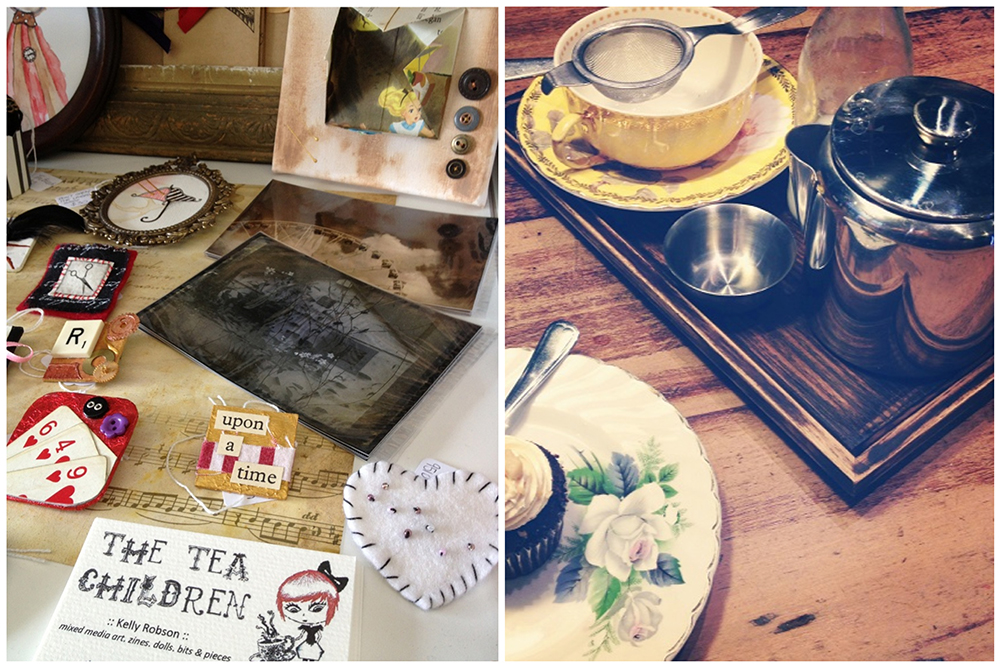 Photographs from Kelly's blog...some of her creations and afternoon tea on her travels