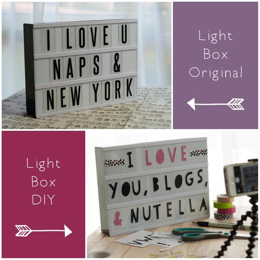 typo light box diy