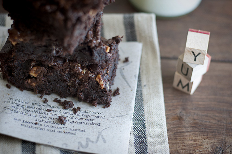 Brownie Recipe by Monsieur Truffe, baked by me here...
