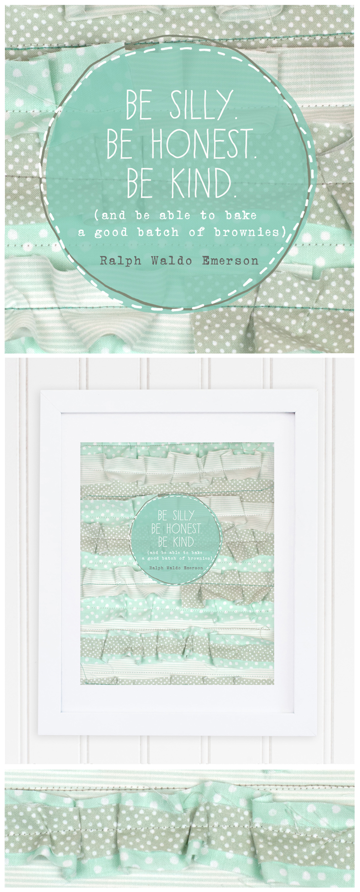 Be Honest. Be Silly. Be Kind. (and be able to bake a good batch of brownies) // Mint Ruffles Brownie Print 8x10 petitpixeldesign.com/store