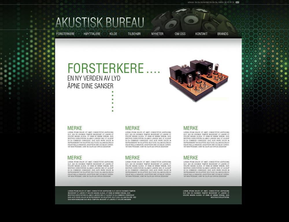 Akustisk Bureau web design