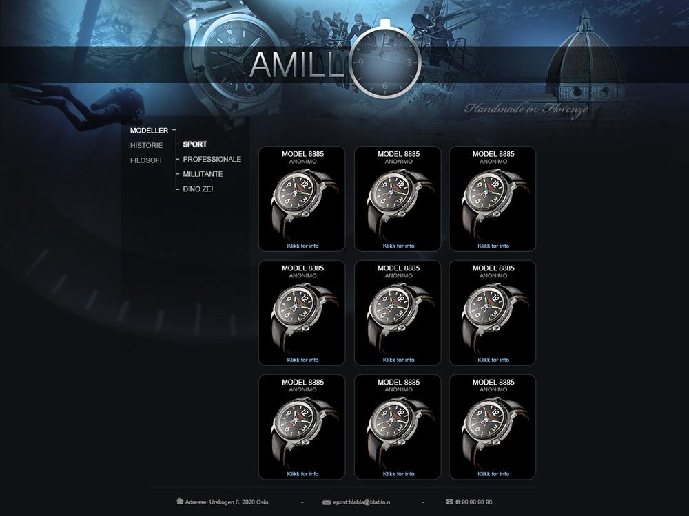 Amillo web design