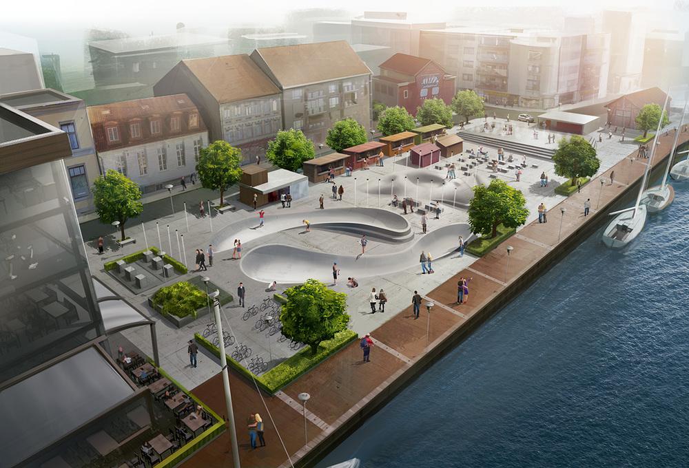 Urban park architectural visualization joachimart for Urban design concepts architecture
