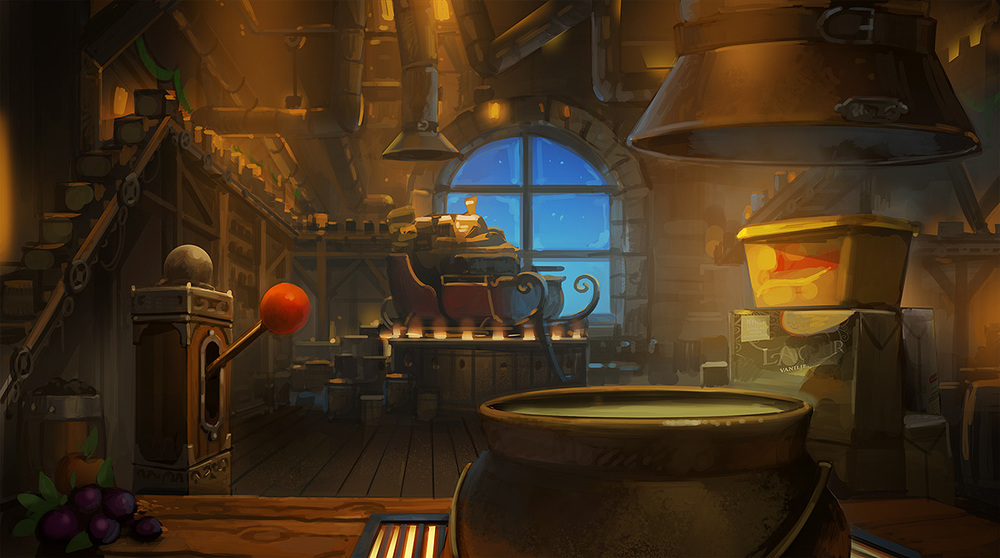 Concept for santas factory (tv commercial)