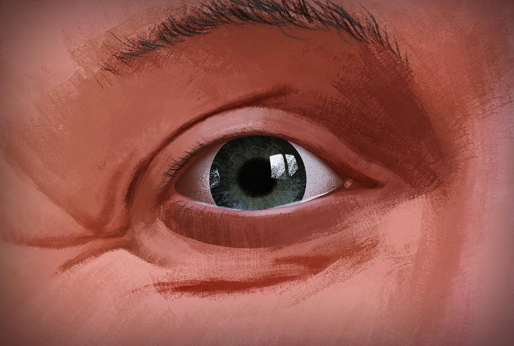 Closeup on eye