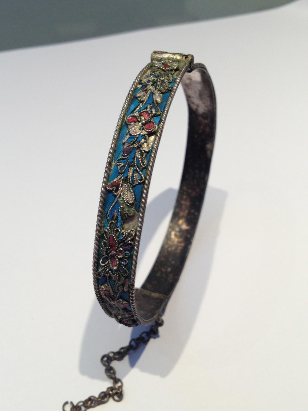 My Kingfisher inlay bangle