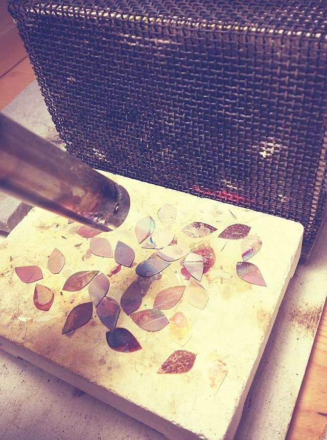 annealing copper petals