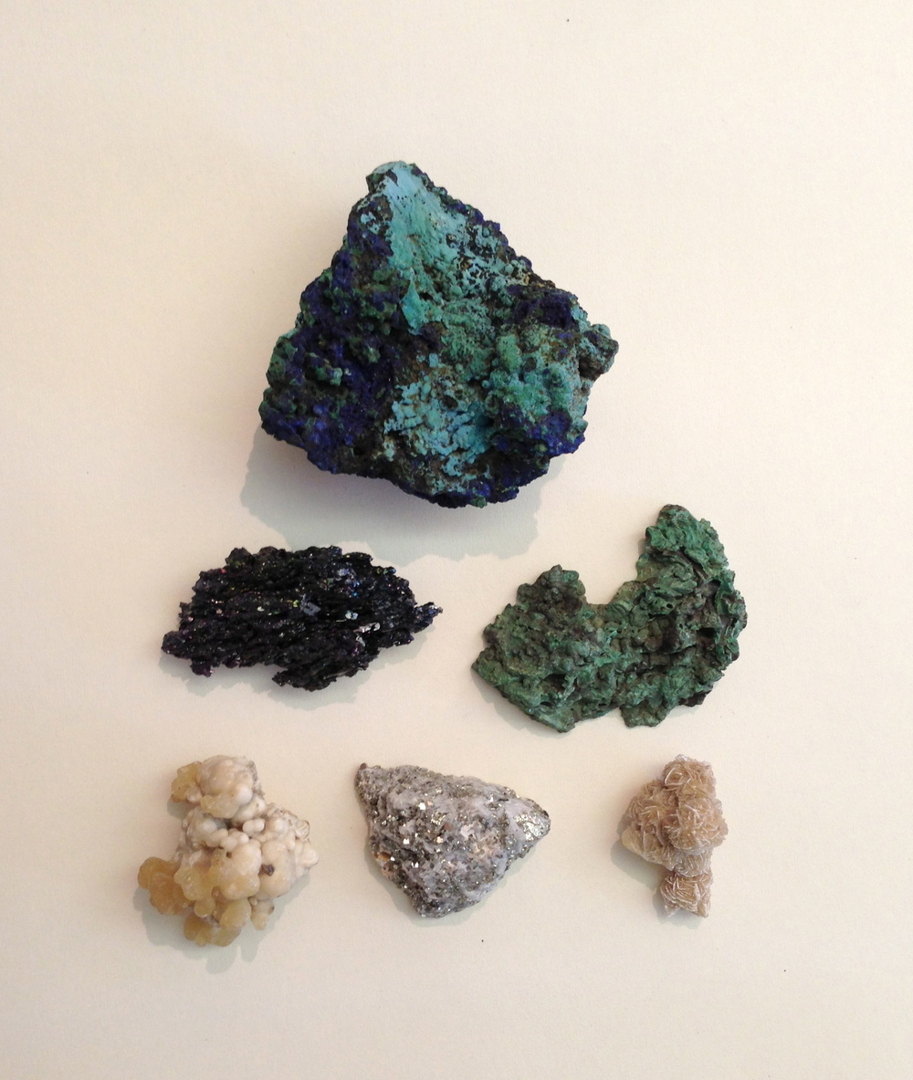 New stones, Ore, Malachite on chrysocolla,