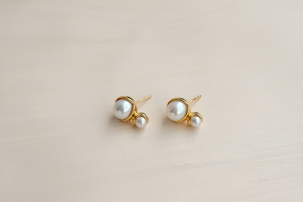 Fruity Double Pearl Earrings small