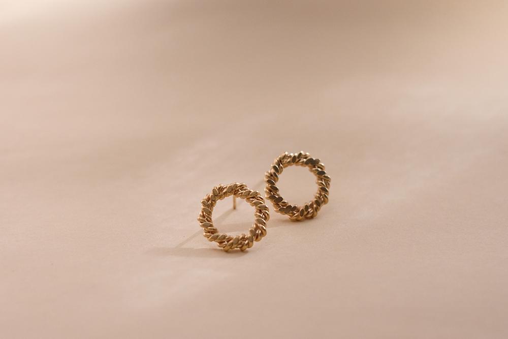 Belinda chang Braid earrings