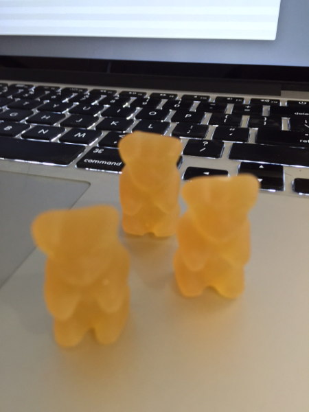Ginger bears. Jelly babies for those who REALLY like ginger.