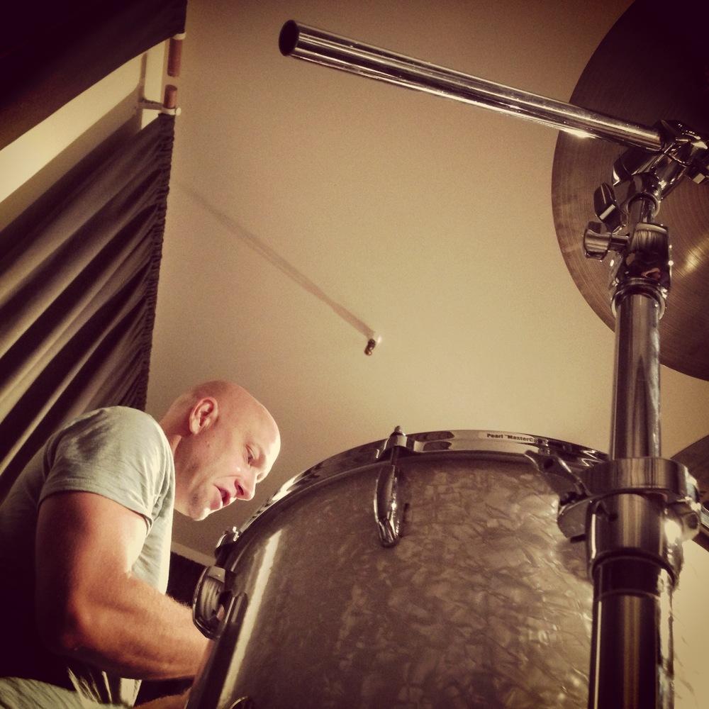 Drummer Andrew Frawley at Euphoria Studios.