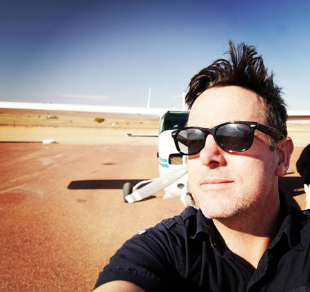 David on location filming in the Australian desert