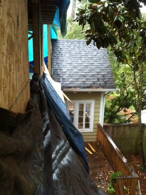 side shot of house for tarp job