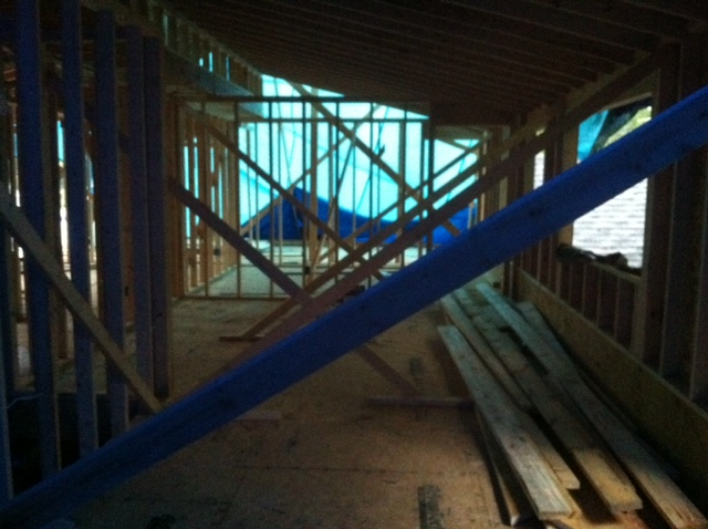 "2nd floor framing of the ""tarp job"""