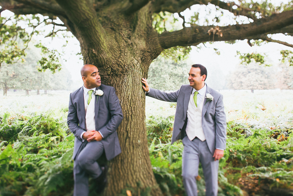 Wedding photography Richmond park, gay wedding photography