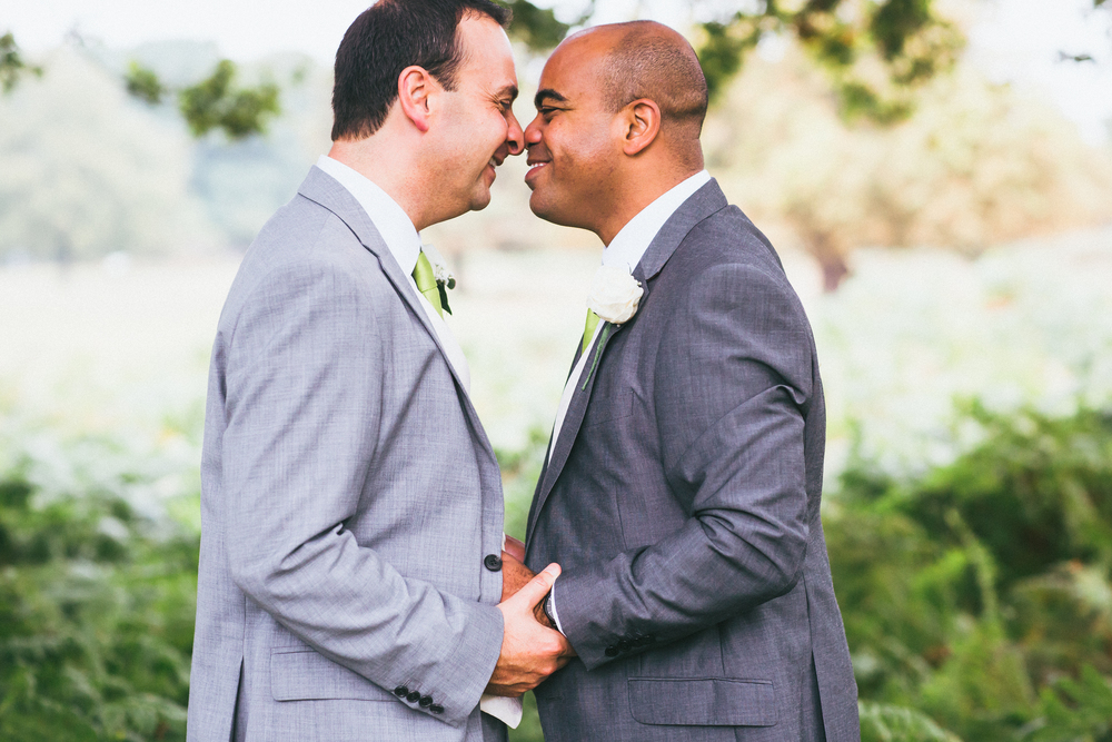 Gay wedding photographer London Wedding Photographer Richmond Park London