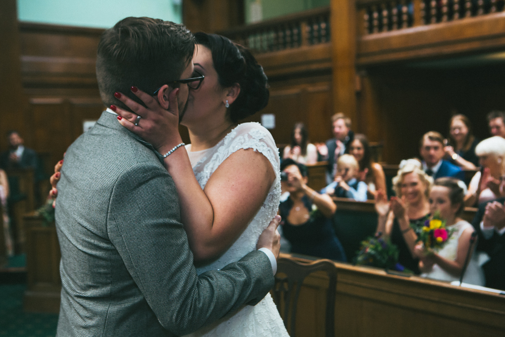 vintage style wedding, St. Pancas hotel, Camden Town Hall, London